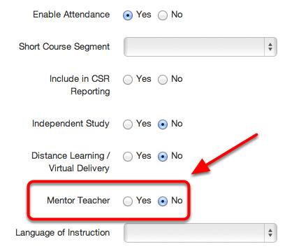 Mentor Teacher