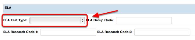 ELA Test Type
