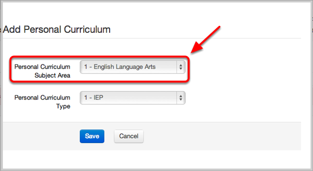 Personal Curriculum Credit Modification