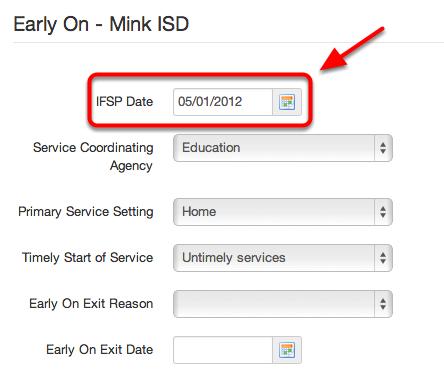 Current IFSP Date