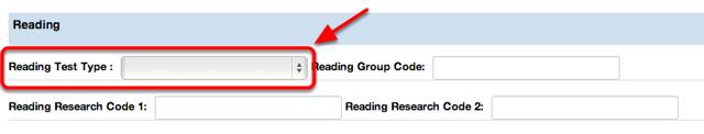 Reading Test Type