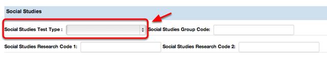Social Studies Test Type