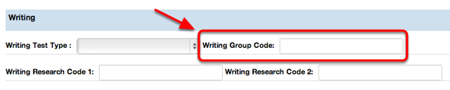Writing Group Code