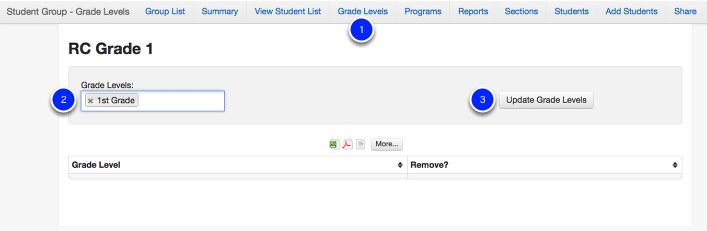 Add Students by Grade Level