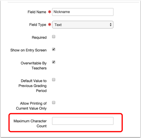 Text and Free Entry Comment Field Type
