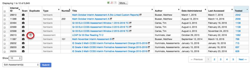 Duplicate an Assessment
