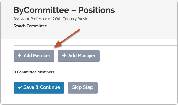 As noted, you can add committee members while creating a new position...
