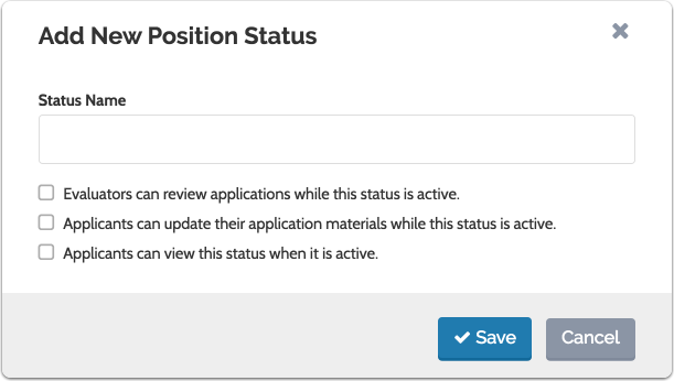 Add new status and set associated permissions
