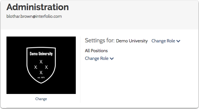 Your new logo will display on the landing page of the position or positions created by the administrative unit
