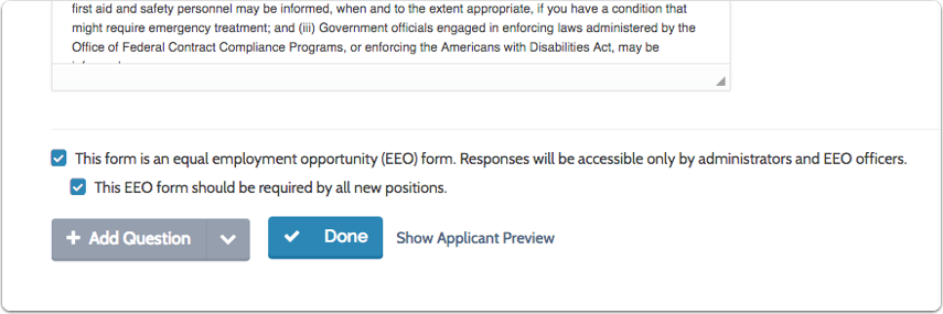 To make a form the default for all positions, check the boxes at the bottom of the page
