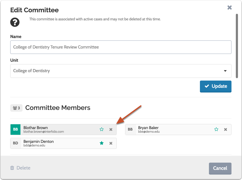 "Scroll down to the ""Committee Members"" section of the ""Edit Committee""  window"