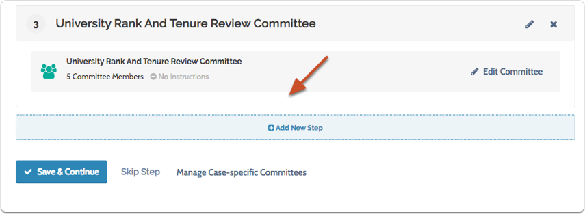 """Click """"Add New Step"""" to add a case review step to the workflow"""