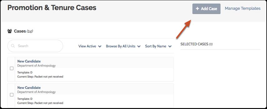 """Click the """"Add Case"""" button"""