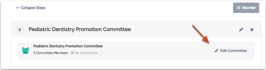 """Click """"Edit Committee"""" to add instructions for the committee"""