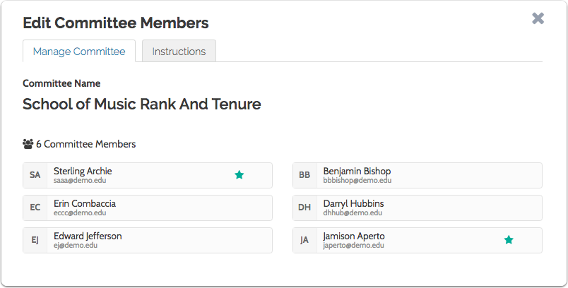 You can view (but not edit) the membership of the committee