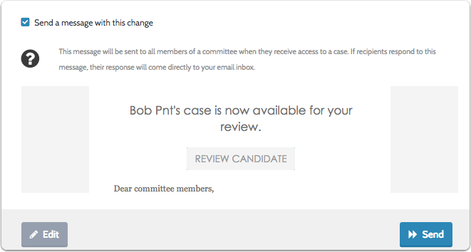 You can preview the message to see how it will appear in the inbox of committee members