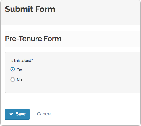 "Answer the questions on the form and click ""Save"" when you are done"