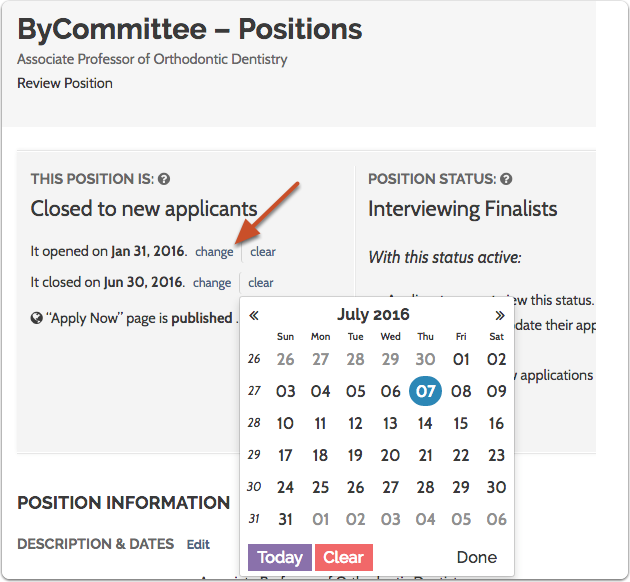 You may need to manually change the close the date of the position if you want to start accepting applications again
