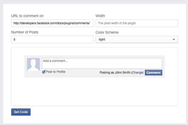 Add your information into the Facebook Comments Code