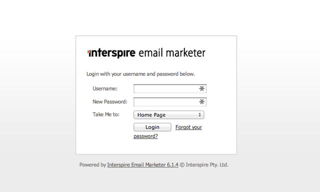 2a.  Open your Interspire installation in a separate tab (e.g. http://yourdomain.com/interspire)
