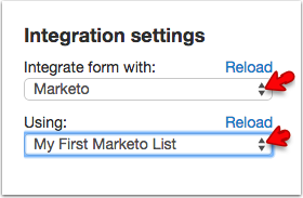 Select Marketo and Select your list