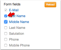3. Selecting form fields