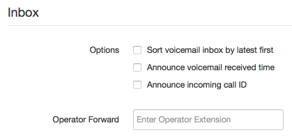 Inbox Options
