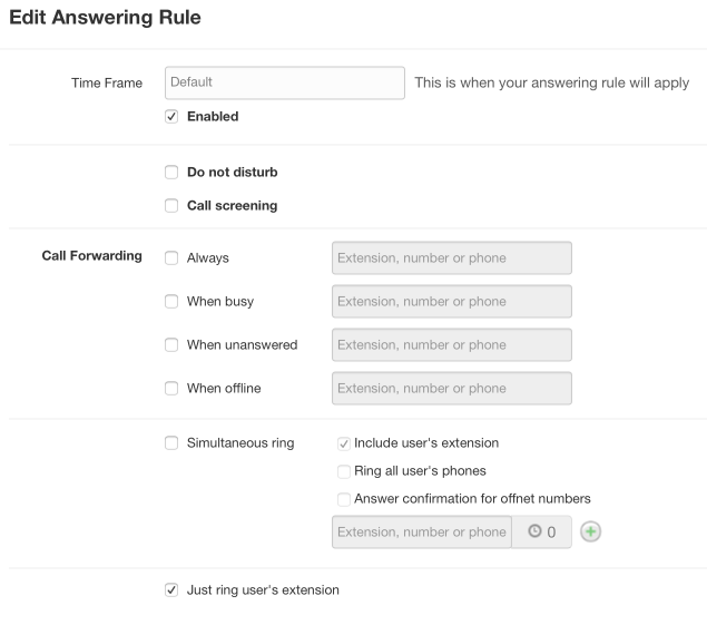 Defining Answering Rules