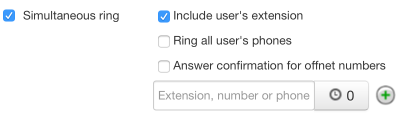 Simultaneous Ring - Include User's Extension