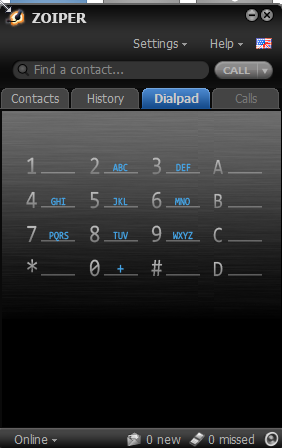Now just click on OK.  Select the Dialpad and start dialing!