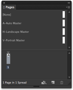 In InDesign Go To Window Pages And Drag One Of The Three Master Onto Page 1 Your Document