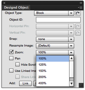 Use the pull-down menu to specify the amount of Zoom you will allow.