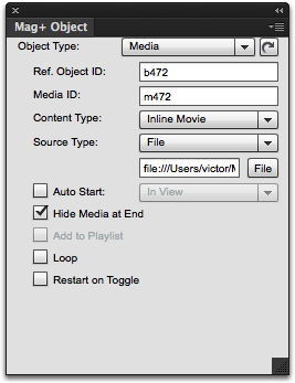 Add your linked media to the InDesign layout.