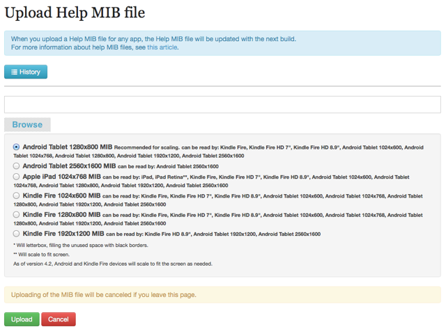 Click on Assets and Configuration > Upload Help MIB file.