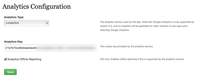 (Optional) Click on Assets and Configuration > Analytics Configuration.