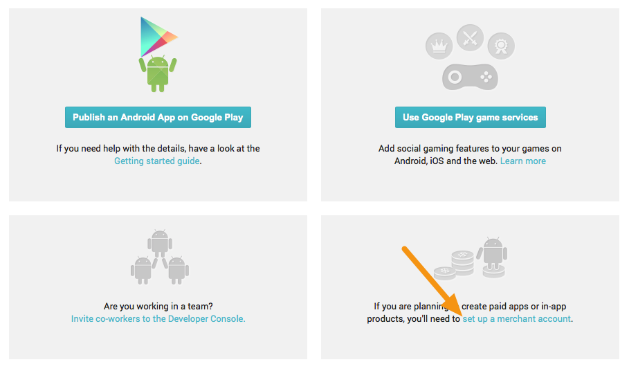 Android - Setting-up Your Google Play Developer Account