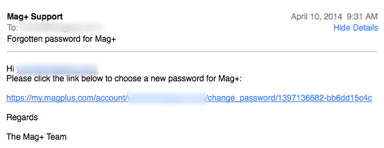 An email will be sent to your account with a link to reset your password.