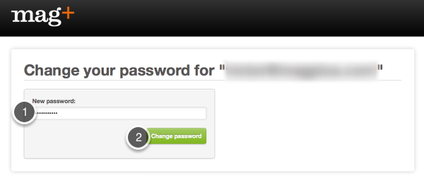 "Enter a new password and click on ""Change Password."""