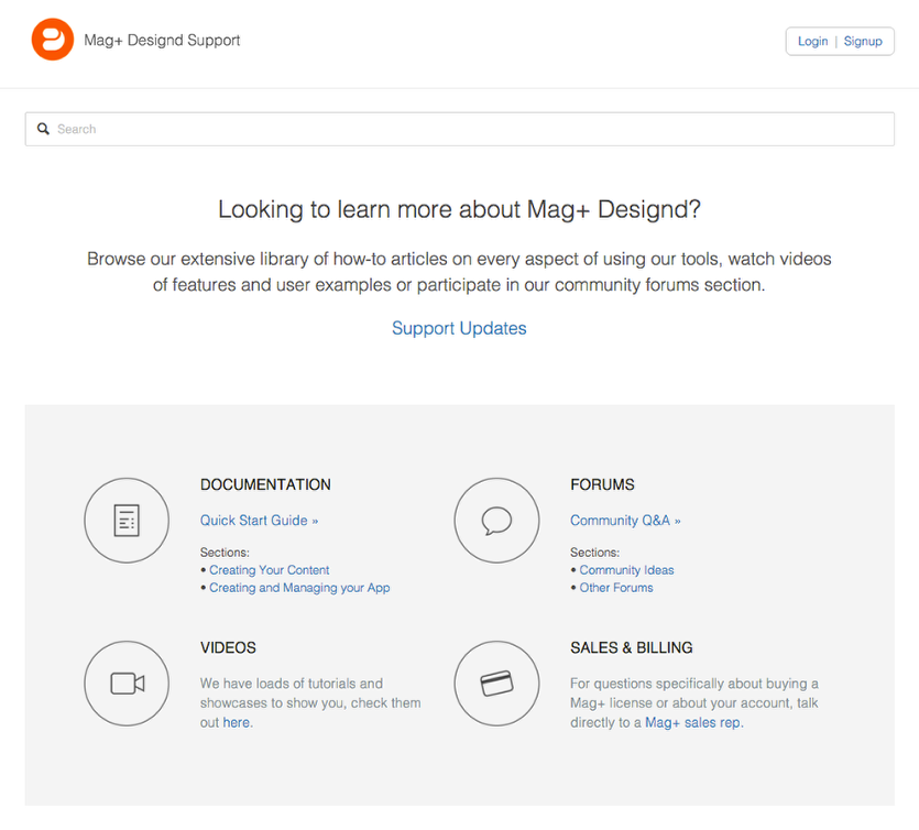 Explore the Mag+ Documentation Knowledge Base to learn how to publish your apps.