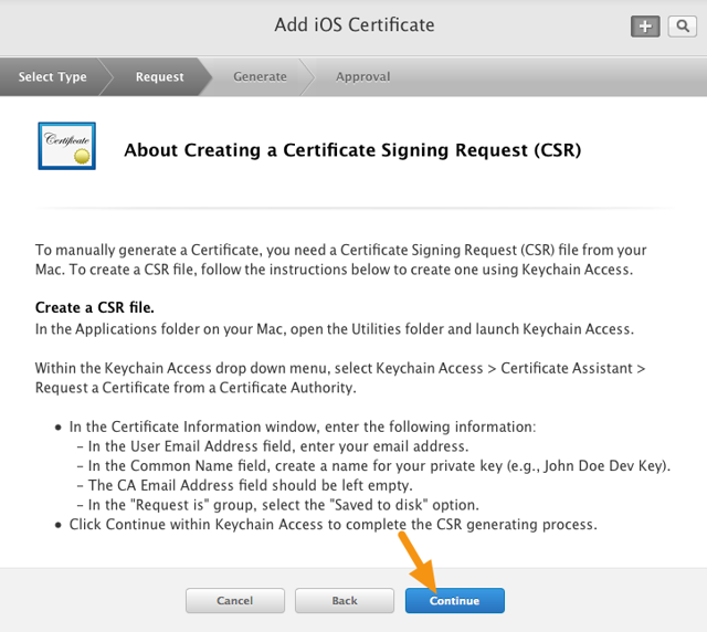 """In the screen that appears, click on the """"Continue"""" button."""