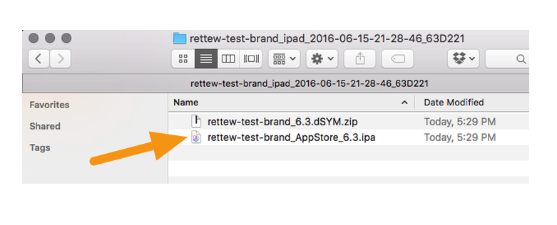 "Select the ""AppStore_x.x.ipa"" file that sits inside the "".tgz"" file you downloaded from the Mag+ Publish Portal."