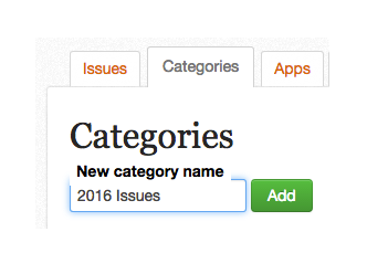 """Enter desired category name and click the """"Add"""" button"""