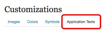 2. Click Application Texts