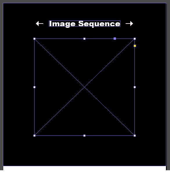 In InDesign, draw an image block on the content layer where the sequence image will appear.