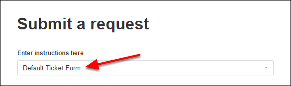 Select the category of the request