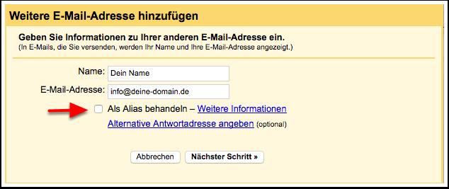 Emails direkt aus Deinem Gmail-Konto versenden.