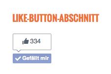 Option B: Code von einem Drittanbieter Like-Button oder Like-Box an beliebiger Stelle