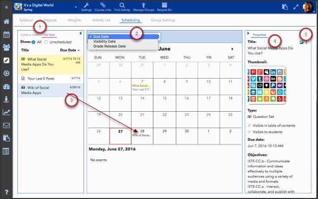 Calendar (Scheduler) tab