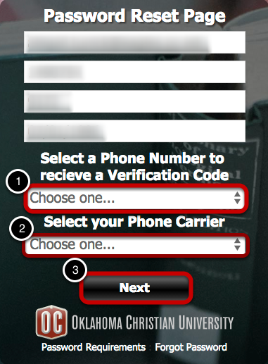 Select Your Phone Number