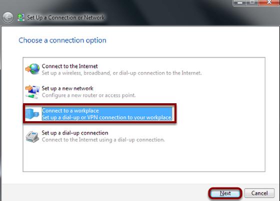 Choose a Connection Option